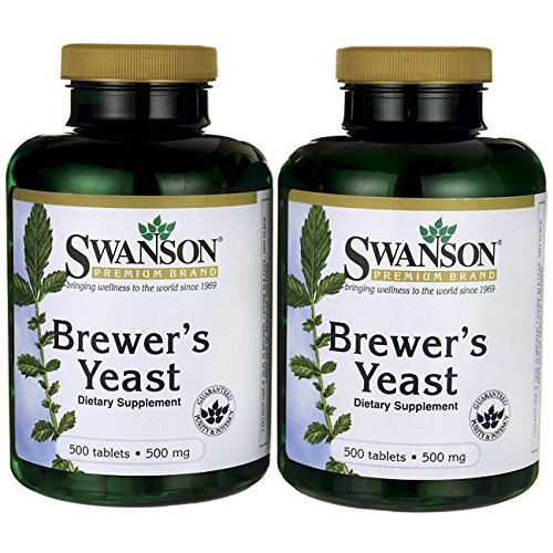 (Swanson Brewer's Yeast 500 Milligrams 1000 Tabs 2 Bottles)