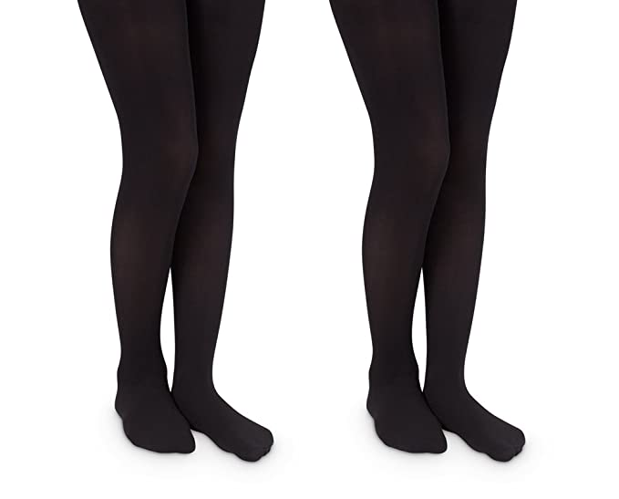 1861bba3c02 Jefferies Socks Girls Pro Ballet Dance Ultra Soft Microfiber Footed Tights  2 Pair Pack (2