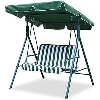 world pride 2 seater green outdoor patio garden swing cushioned canopy furniture hammock amazon    world pride 2 seater green outdoor patio garden swing      rh   amazon