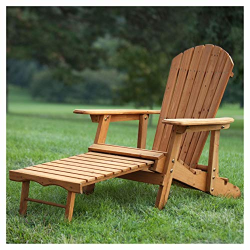 Out Door Adirondack Chair Reclin er with Slide - Out Ottoman in Kiln - Dried Fir Wood, Outdoor Adirondack Chair Recliner with Slide-Out Ottoman in Kiln-Dried Fir Wood (Ottoman Retractable Adirondack Chairs With)