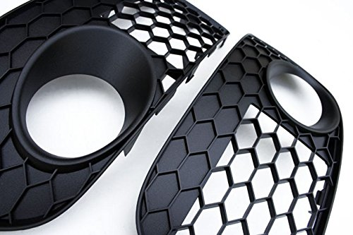 HONEYCOMB Hex Mesh Fog Light Open Vent Grill Intake For 06-09 VW MK5 GTI GLI JETTA