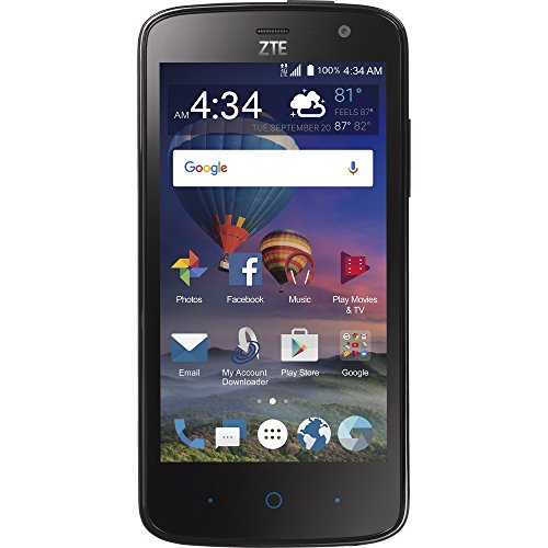 ZTE STZEZ899VCPWP Majesty Pro Plus Prepaid Straight Talk Smartphone, Black