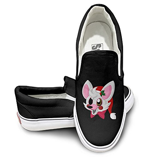 [Rebecca Five Night Video Game Trailerb Comfort Unisex Flat Canvas Shoes Sneaker 41 Black The Round Toe And Manmade Sole Will Keep Your Feet Feeling Comfortable And The Quality Canvas Materials Will Provide Years Of] (Wine Bottle Costumes Halloween)