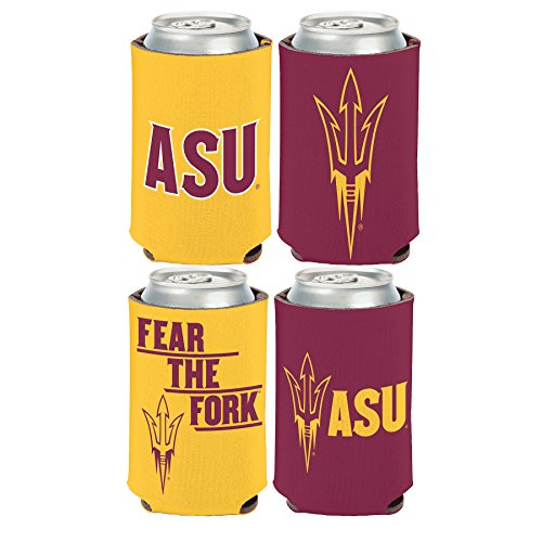 WinCraft NCAA Arizona State University Sun Devils 2 PACK 12 oz. 2-Sided Can Coolers