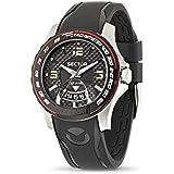 Sector - R3251577002 - S-99 - Montre Homme - Quartz Analogique - Cadran Noir - Bracelet Plastique Noir
