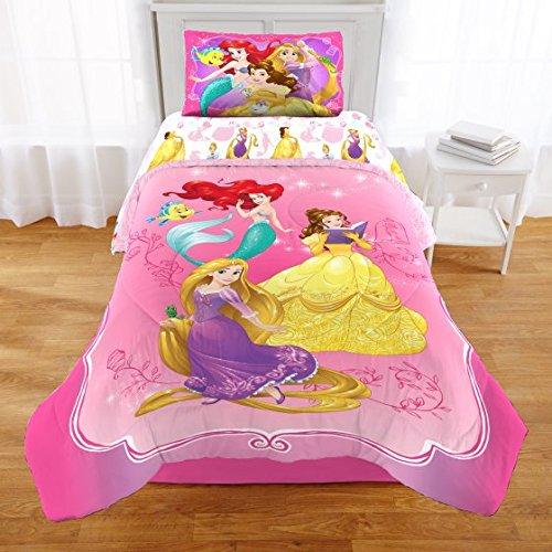 Disney Princess, Rapunzel, Belle & Ariel Full Comforter, Sheets & BONUS Sham Set (6 Piece Bed In A Bag) + HOMEMADE WAX (Disney Princess Full Comforter)
