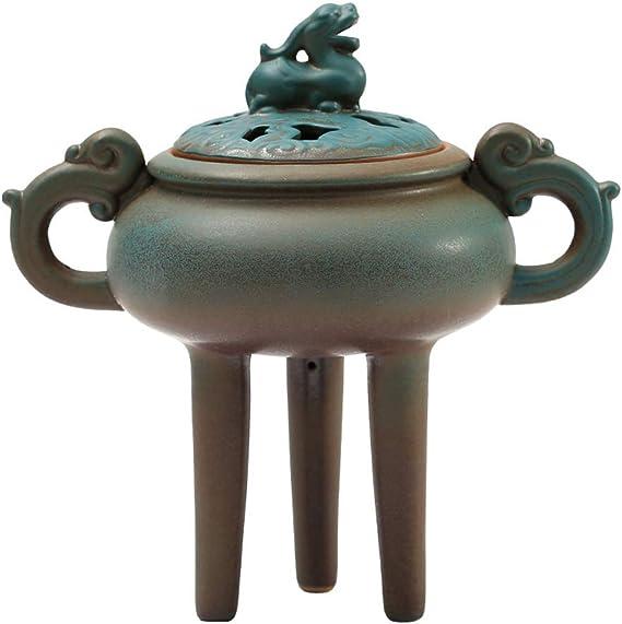 芳香器・アロマバーナー セラミック三本足の香炉家庭料理香炉屋内アロマ炉オフィスホームデコレーションオーナメント アロマバーナー芳香器