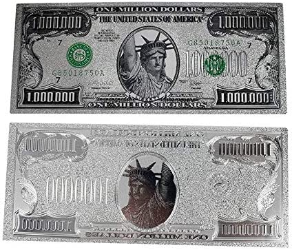ZYZRYP リバティColorprintカードの1000000ドル銅像箔1ミリオンダラー紙幣シルバー 使いやすい (色 : 1