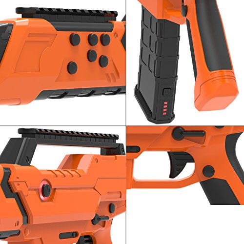 VR Bluetooth Game Gun for HTC VIVE,Game Pad Shooting Controller TPS FPS with Motor Vibration for 4 to 6 Inch Smartphone iPhone Samsung Tablet iPad Wireless Android,BENEVE(Orange) by BENEVE (Image #3)