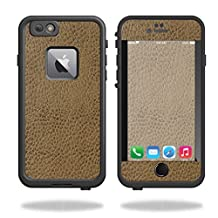 MightySkins Protective Vinyl Skin Decal for Lifeproof Fre iPhone 6 Plus / 6S Plus Case wrap cover sticker skins Sandlwood Leather