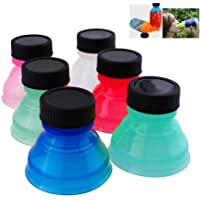 6 Tapas Reutilizables genéricas para dispensador de Agua