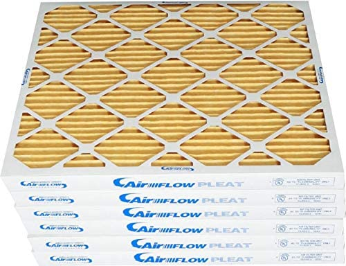 Airflow Products 20x24x1 MERV 11 Pleated Home A//C Furnace Air Filter 12-pack