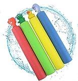 Littlefun Water Pump Blaster Soaker for Summer Fun Water Gun Toy Squirter Outdoor Swimming Pool Games EPE Foam Play Multiple Animal Pattern (4-Pack)