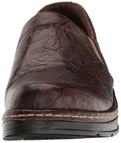 Brown Tooled Naples Women's Klogs Footwear Flower 6FpqUx