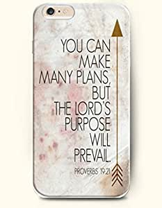 iPhone Case,iPhone 6 Plus (5.5) Hard Case **NEW** Case with the Design of YOU CAN MAKE MANY PLANS,BUT THE LORD'S PURPOSE WILL PREVEIL PROBERBS 19:21 - Case for iPhone iPhone 6 (5.5) (2014) Verizon, AT&T Sprint, T-mobile