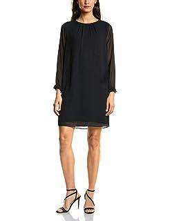 Street One Damen Knielanges Kleid mit R/üschenkragen