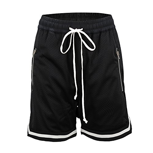 ONCEGALA Men's Fashion Classic Fit Short Drop Crotch Short Sporting Shorts (Black, ()