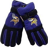 Minnesota Vikings Youth Winter Gloves Thinsulate Logo Block