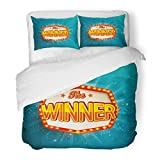 SanChic Duvet Cover Set Red Casino The Winner Retro Glowing Lamps Poker Roulette Lottery Vintage Light Game Decorative Bedding Set 2 Pillow Shams King Size