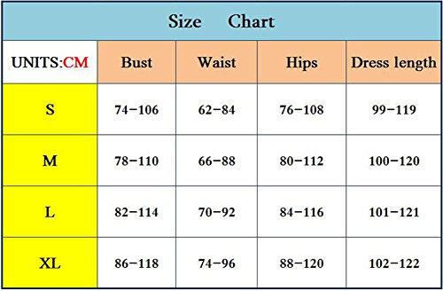 Baymate Mujer Irregular Impresión Slim Fit Vestidos Sin Mangas Bodycon Vestido De Fiesta Vestido Estilo 1