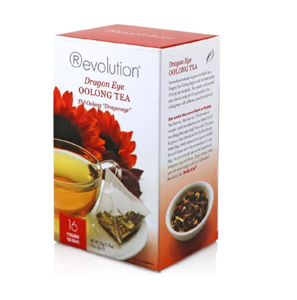 Revolution Tea Dragon Eye Oolong, 16 Count (Pack of 6) by Revolution Tea