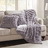 Purple Throw Pillows Comfort Spaces Faux Fur Throw Blanket Set – Fluffy Plush Blankets for Couch and Bed – Lavender Size 50