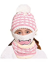 B5fb30c7f473 Kafeimali Unisex Baby Knit Stripe Beard Masks