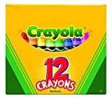 Crayola Non-Toxic Crayon in Tuck Box (12 Pack), 5/16