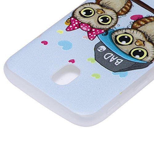 Matte Résistant Aux Soft Galaxy Téléphone Samsung J3 J330 Slim Arrière Motif Rayures Couverture Fit Silicone Hozor Cas 2017 Tpu Pulvérisation Cas Owl Peint De Antichoc AOnq5PHH