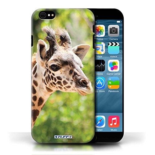 Kobalt Giraffa stampato Custodia Cover per Apple iPhone 6/6S cellulari telefoni / Collezione Animali selvatici