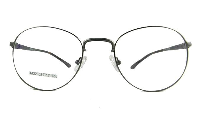 Amazon.com: Men Eyeglass Frames Vintage Round Spring Hinges 52-20 ...