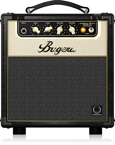 BUGERA V5 5-Watt Class Amplifier Combo with Infinium Tube Life Multiplier Black (V5INFINIUM)