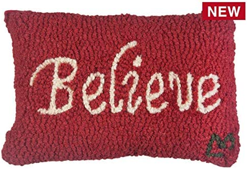 Chandler 4 Corners Believe 8 x12 Hooked Pillow