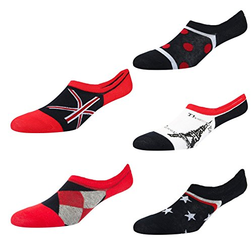 - Men's No Show Thin Non-Slip Athletic Sports Argyle Star Diamond Flag Low Cut Bamboo Cotton Ankle Socks For Loafer 5 Pack Size 6-11