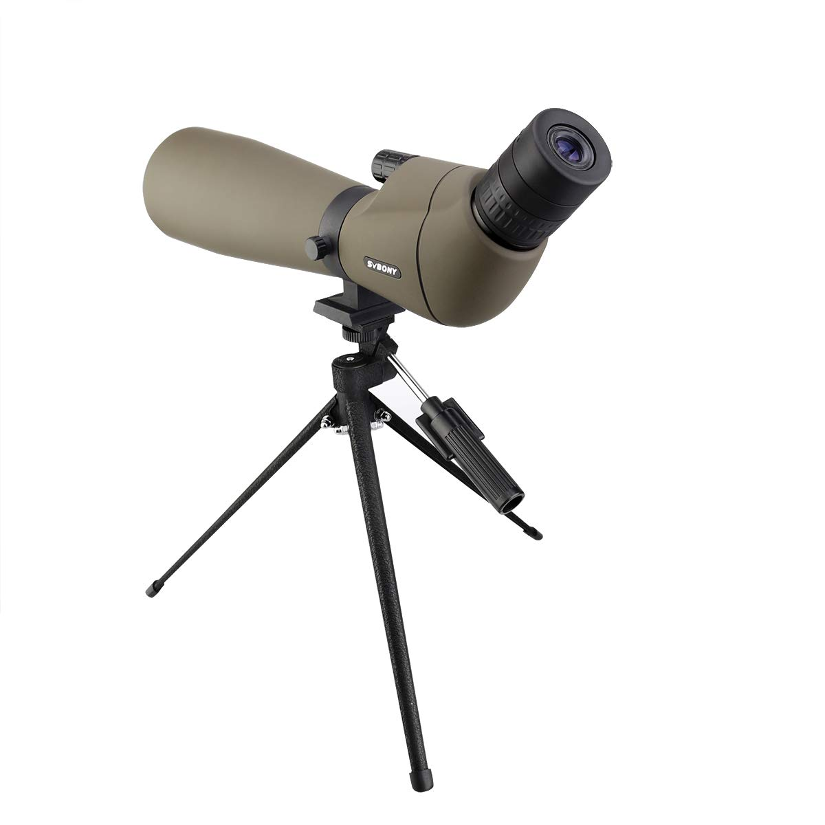 Svbony SV401 Telescopio Terrestre 20-60x80 Potente HD FMC Porro Prisma Catalejo Ocular Angulado Impermeable Telescopio Terrestre con Tr/ípode Grande para Observaci/ón de Aves Tiro al Arco