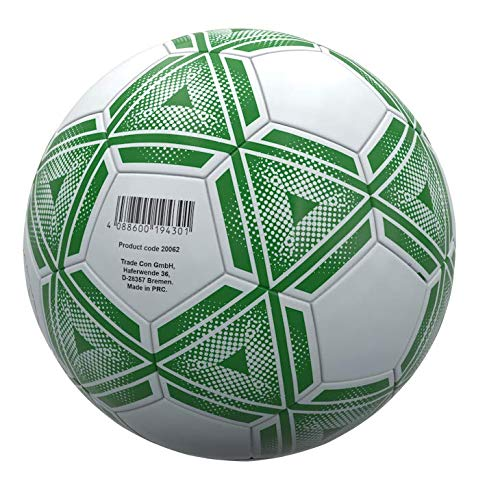 Trade Con – Balón de fútbol 3. Color: Blanco y Verde.