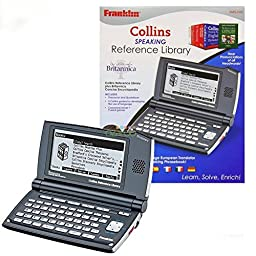 Franklin Collins Reference Library & 5 Language Speaking Translator Phrasebook Thousands of articles containing world facts and figures - Black