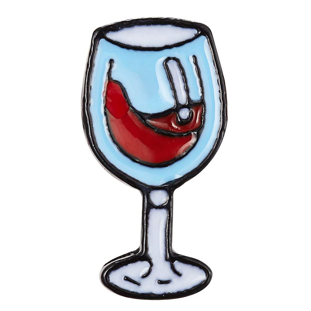 FENICAL Petite /Émail Pin Coupe Du Vin /Épinglette Broches pour V/êtements Sacs /À Dos D/écoration De F/ête