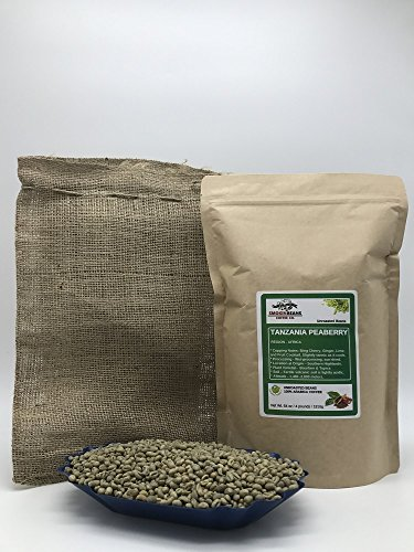4LBS - TANZANIA PEABERRY (includes FREE BURLAP BAG) Specialty-Grade – Fresh-Current-Crop – Unroasted Green Coffee Beans – Wet Processed, Sundried – Plant Varietal Bourbon, Typica – Farm: Tembo Coffee