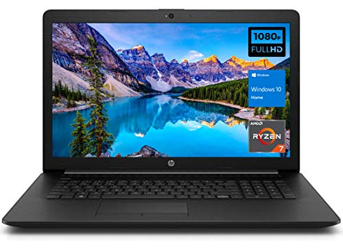 "i7-1065G7), 16GB RAM, 512GB PCIe SSD…"" width=""100″ height=""100″>                      HP Newest 17 Laptop Notebook, 17.3″ FHD Anti-Glare Display, AMD Ryzen 7 5700U (> i7-1065G7), 16GB RAM, 512GB PCIe SSD, Webcam, Wi-Fi 6, Bluetooth, HDMI, Windows 10 Home, KKE Mousepad"