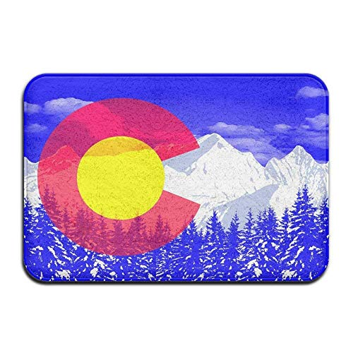Pillow Hats Flag of Colorado Welcome Mat Rug Front Door Bath