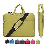 Laptop Case, Laptop Shoulder Bag, CROMI Simplicity Slim Lightweight Briefcase Commuter Bag Business Sleeve Carry Hand Bag Nylon Waterproof Notebook Shoulder Messenger Bag (Yellow, 13.3 inch)