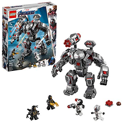 LEGO Marvel Avengers War Machine Buster 76124 Building Kit, New 2019 (362 - Set Piece 9 Figure