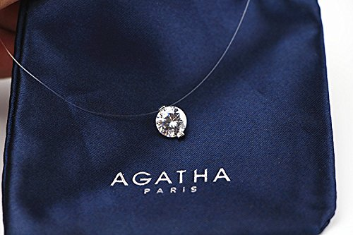 Generic French_purchasing_purchasing_Agatha_transparent_fishing_line_ crystal diamond necklace Pendant _ clavicle chain _trace_the_owner_from_wear