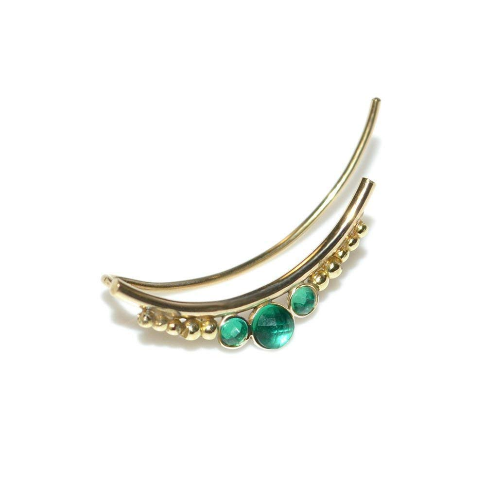 Handmade Products Jewelry Emeralds Climber Earring Gold/Ear Wrap ...