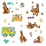 RoomMates RMK1696SCS Scooby Doo Peel & Stick Wall Decals, 26 Count