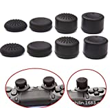 xbox cod controller - Pack of 8 pcs Analog Controller Gamepad Raised Antislip Thumb Stick Grips Thumbsticks Joystick Cap Cover for PS4, PS3, Switch Pro, Xbox one, Xbox 360, Wii U, PS2 Controller (Black)