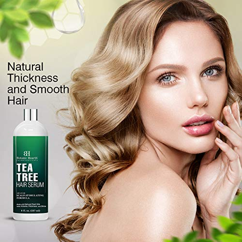 Botanic Hearth Tea Tree Hair Serum, Hair Growth Stimulating, Made with Natural Plant Oils – Adds Volume, Thickness and…