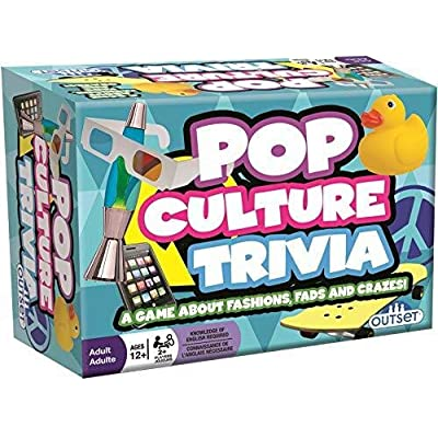 Pop Culture Trivia - A Game About Fashions Fads and Crazes - Features 220 Cards with Over 800 Questions and Answers - Ages 12+: Toys & Games