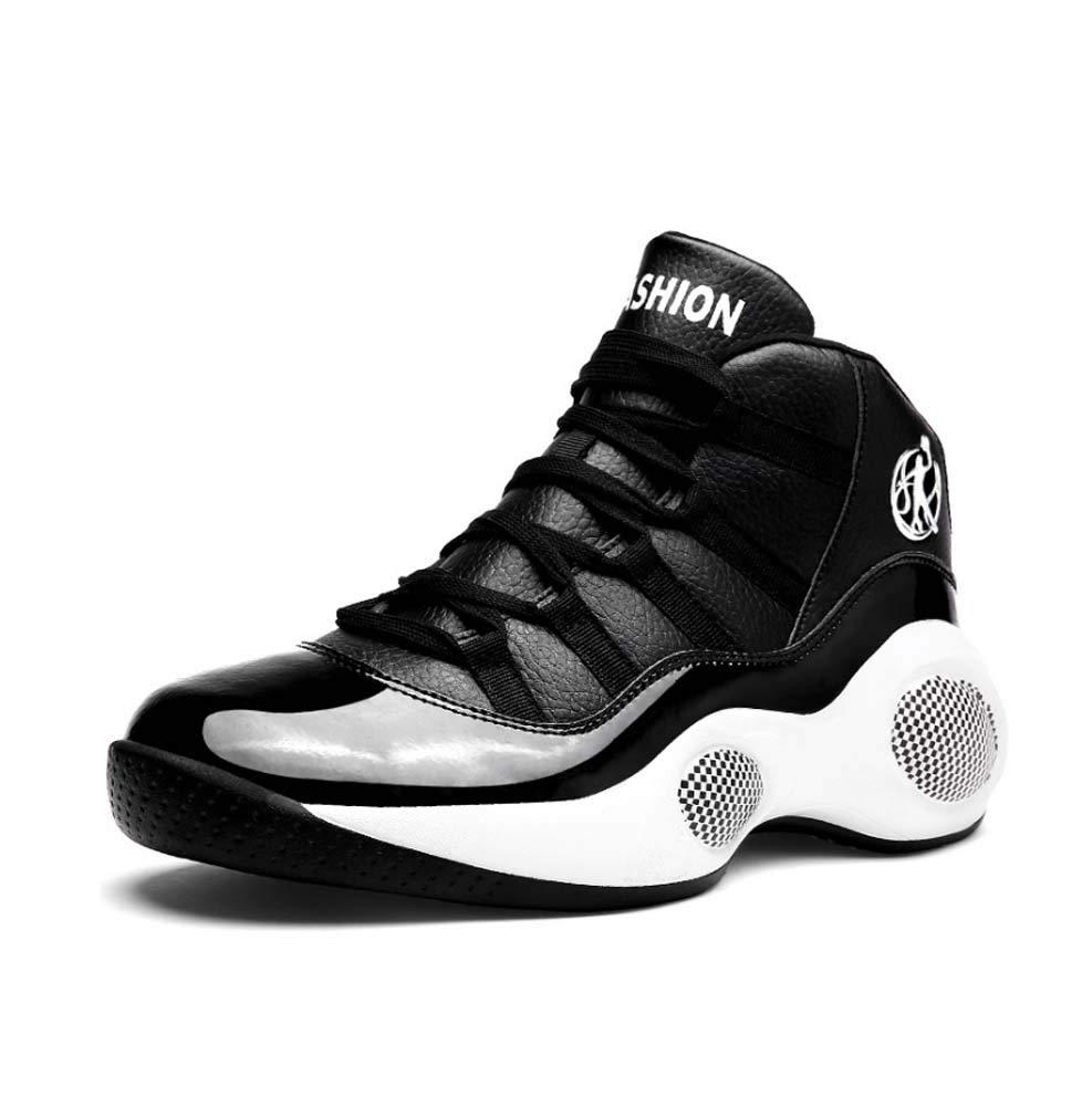 Noir GHFJDO Chaussures de Sport pour Hommes Chaussures de Course avec Chaussures Air Cushion baskets Sole Chaussures de Sport légères 44EU